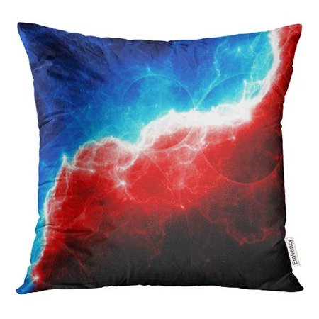 Eccot Color Abstract Red And Blue Lightning Electric Charge Pillow Case Pillow Cover 20x20 Inch