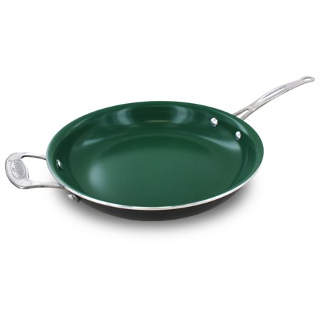 Orgreenic Kitchenware Ceramic Green Non Stick 12 Inch Fry
