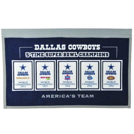 Dallas Cowboys 22'' x 14'' Rafter Raiser Banner - No Size](Dallas Cowboys Banner)