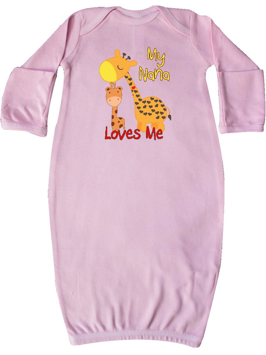 My Nana Loves Me Giraffe Newborn Layette
