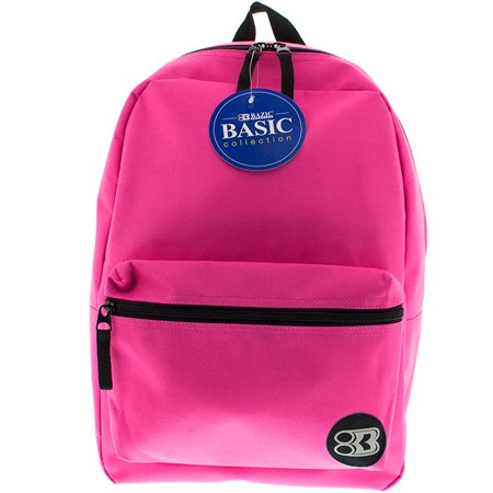 New 401323   16 Inch Fuchsia Basic Backpack (12-Pack) Office Supply Cheap Wholesale Discount Bulk Stationery Office Supply River Stones - Backpacks Cheap Bulk