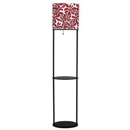 mainstays floral shelf floor lamp. Black Bedroom Furniture Sets. Home Design Ideas