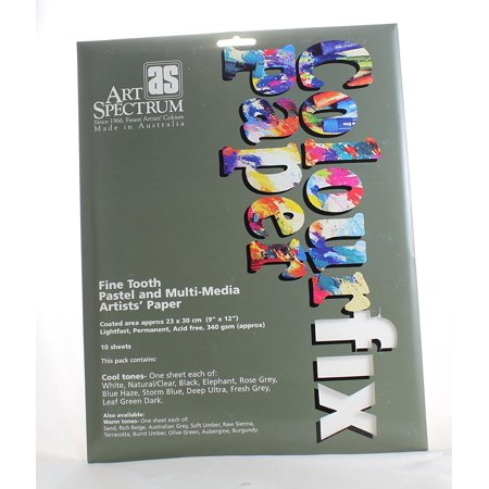 - Colourfix Pastel & Multi-Media Paper Packs - Cool 9