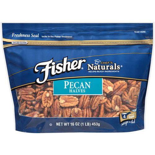 Fisher Chef's Naturals Pecan Halves, 16 oz