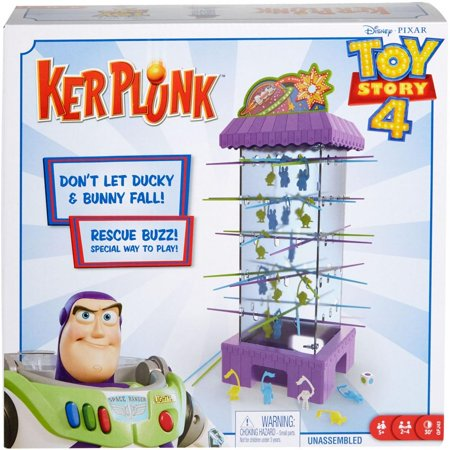 KerPlunk Toy Story 4 Character-Themed Game for 2-4 Players Ages 5Y+