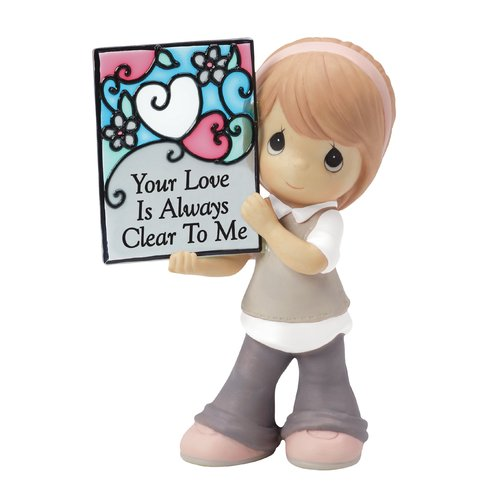 Precious Moments, Your Love Is Always Clear To Me Bisque Porcelain Figurine, 154054 by Precious Moments