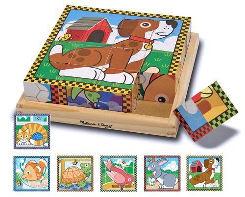 Pets Themed Cube Puzzle + FREE Melissa Doug Scratch Art Mini-Pad Bundle [37716] - image 1 de 1