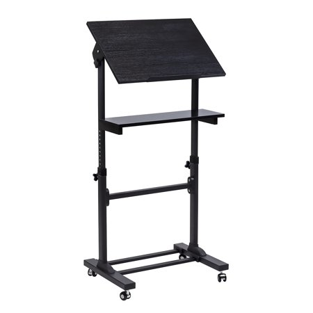 Mount-It! Mobile Stand Up Desk / Presentation Lectern Height-Adjustable Multi-Purpose Standing Workstation