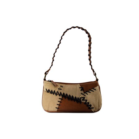 24/7 Comfort Apparel Suede and Faux Leather Boho Bag - Boho Leather