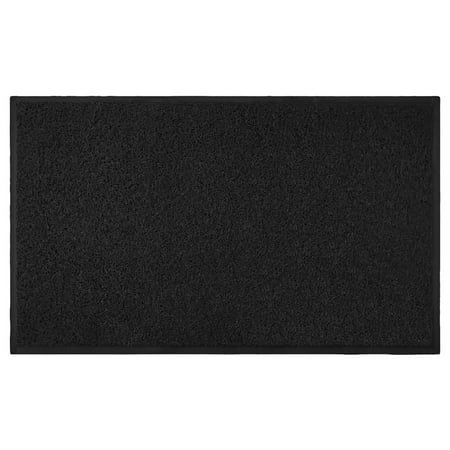 Indoor / Outdoor Mud Dirt Moisture Trapper Door Mat, Non-Slip Rubber Back, 18x30 Rectangle - Black Funny Indoor Outdoor Door Mat