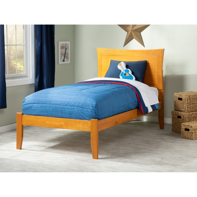 Atlantic Furniture Metro Caramel Latte Twin XL Open Foot Bed