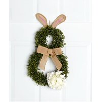 Cottontail Bunny Wreath, Accent your front door or a wall in your home with this adorable Cottontail Bunny Wreath. The bunny's body is made out of life-like.., By The Lakeside Collection