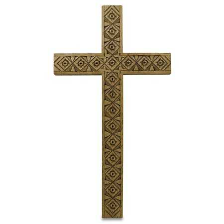 Ukrainian Carved Wooden Wall Cross 5.25 - Wooden Wall Cross
