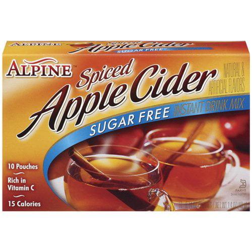 Alpine Sugar Free Spiced Apple Cider Instant Drink Mix, 10 Ct/10 oz