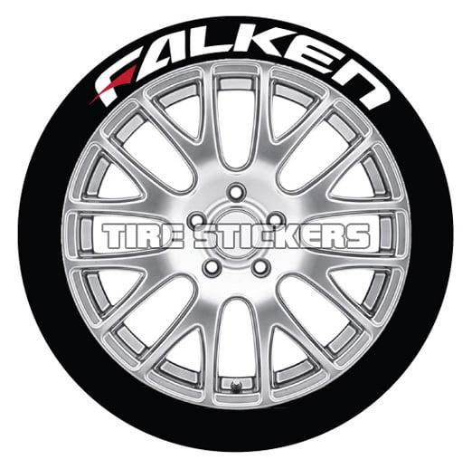 Falken W Red Dash Tire Stickers
