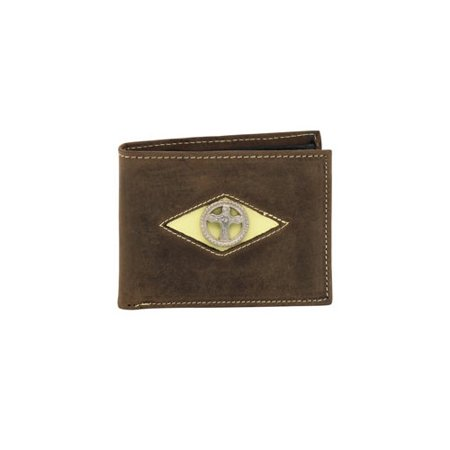 MISC  NOVELTY CLOTHING 1709M03 BI-FOLD RODEO WALLET WITH DIAMOND CUT CROSS CONCHO](Novelty Wallets)
