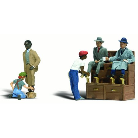 Woodland Scenics HO Scale Scenic Accents Figures/People Set Shoe Shiners -