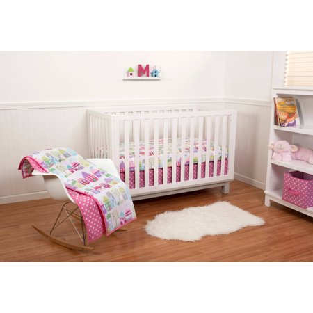 Pinwheel Cottages 5pc Crib Bedding Set