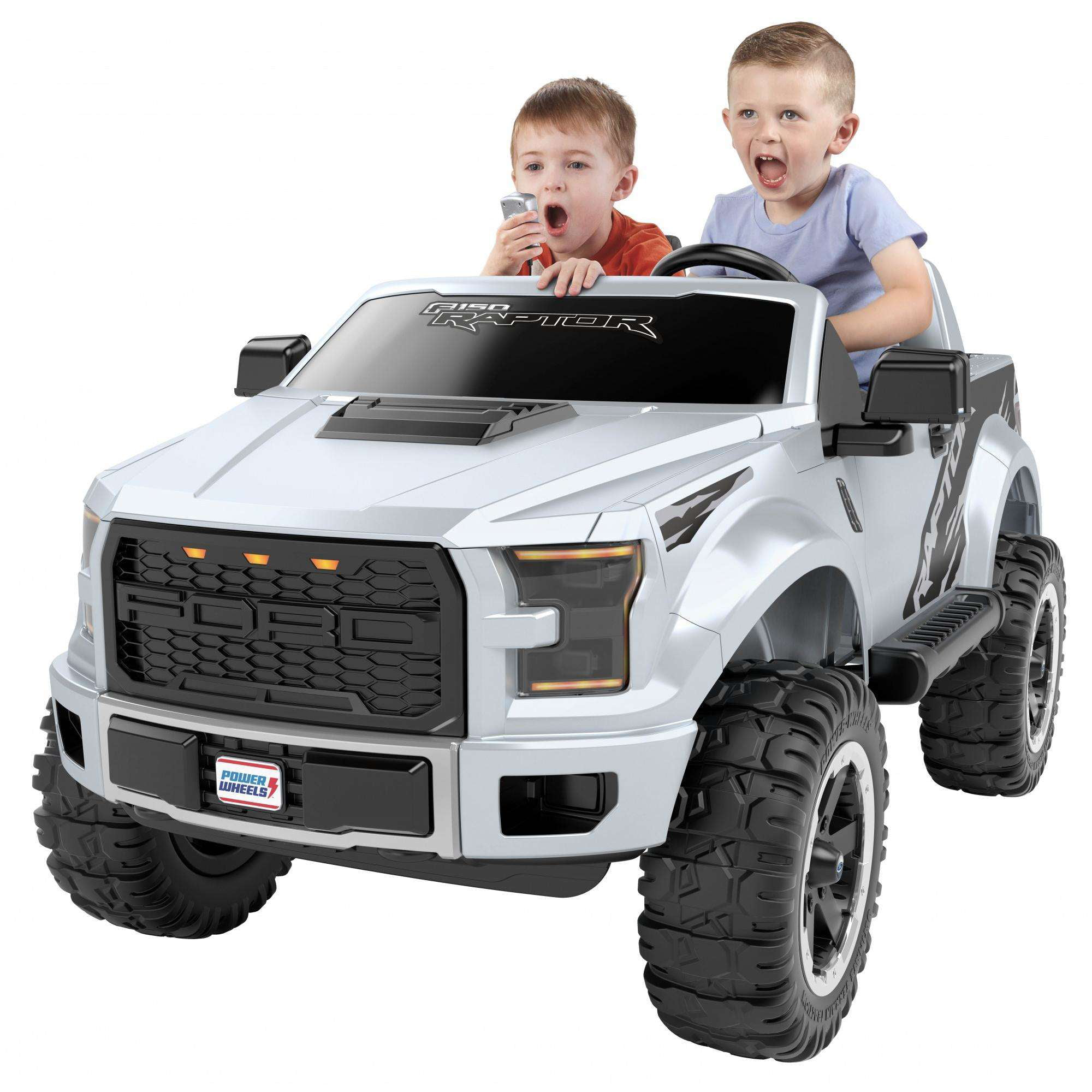 Click here to buy Power Wheels Ford F-150 Raptor Extreme, Silver by FISHER PRICE.