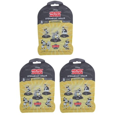 Mickey Mouse Steamboat Willie Domez Blind Bag Collectible Minis - Lot of 3 - image 1 de 1