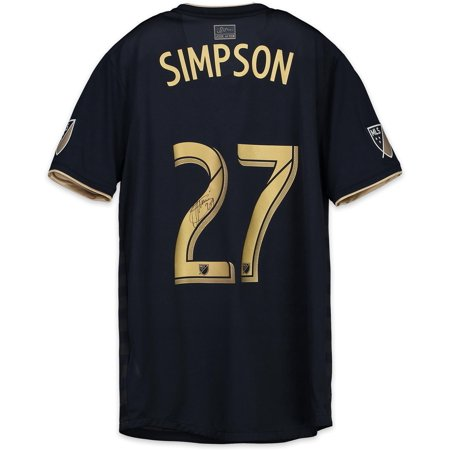 Jay Simpson Philadelphia Union Autographed Match-Used Navy #27 Jersey vs. New York City FC on October 28, 2018 - Fanatics Authentic Certified - Party City Union New Jersey