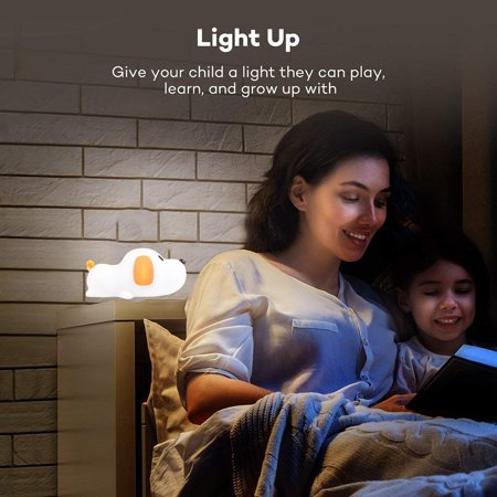 LED Night Light for Kids, Silicone Puppy LED Lamp with Sensitive Touch Control, Baby Nursery Lamp with Warm/Cool White Dual Modes - USB Rechargeable, Brightness Adjustable, Timing Function - image 6 de 6