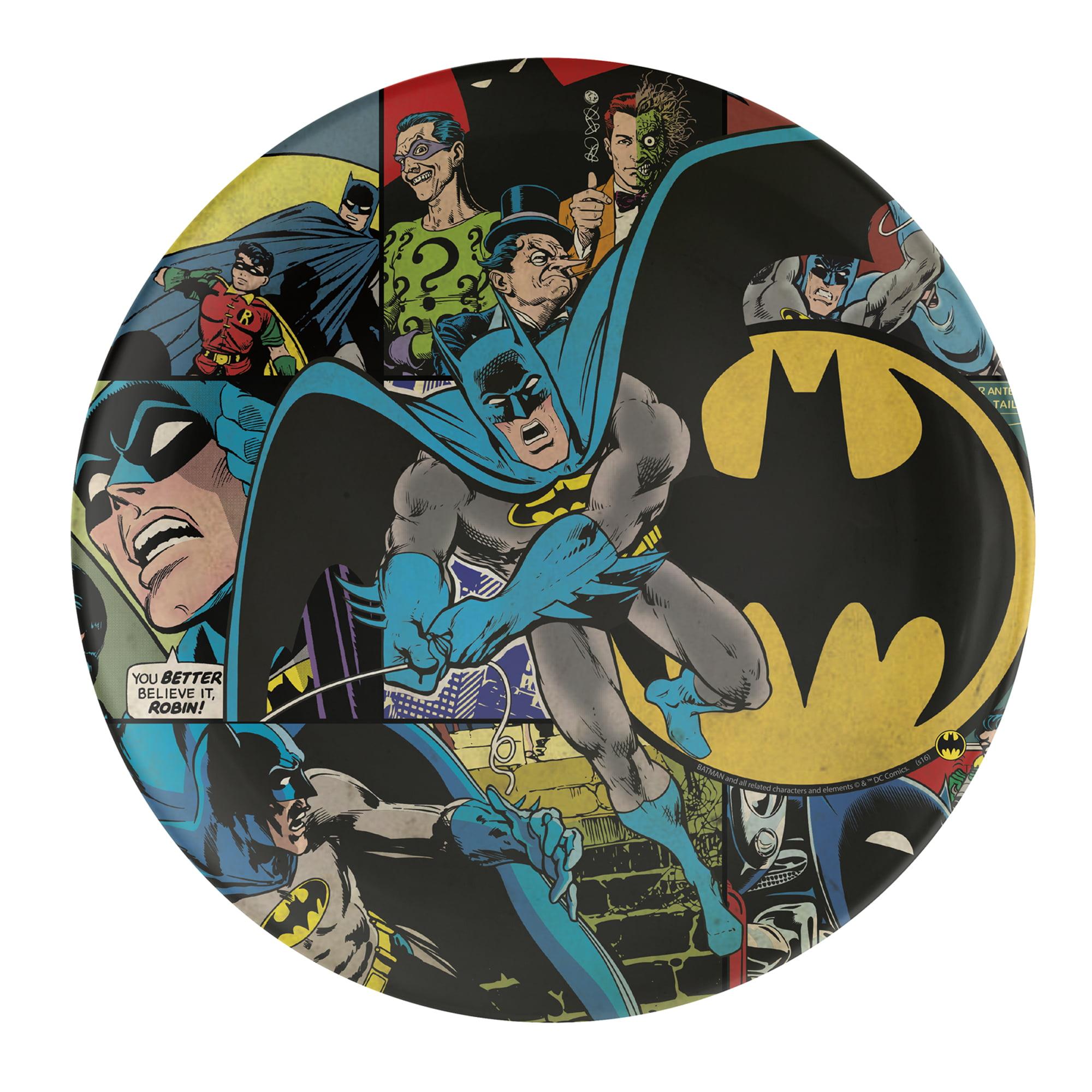Zak! Designs DC Comics Batman Kid's Plates, 1 Each