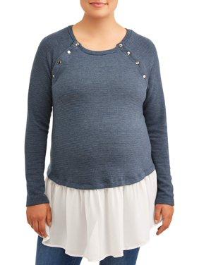 Time and Tru Maternity Peplum Sweatshirt
