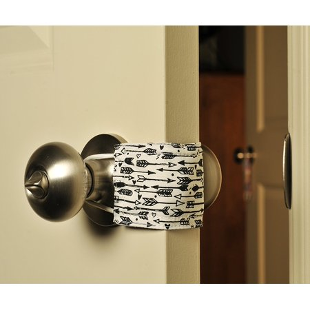 Latchy Catchy Door Latch Cover Jammer Noise Silencer Cushion - Quiet Cupid