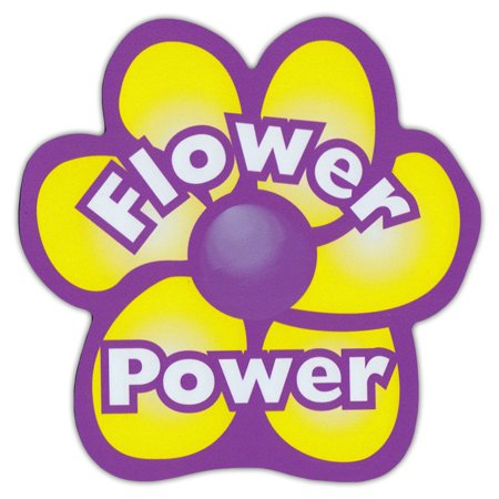 Flower Shaped Magnet - Flower Power, Peace Love Hippies, Hippy Chick - Great For VW Volkswagen Bugs, Busses, Vans, Beetles (Flower Power Hippie)