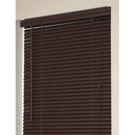 "Mini Window Blinds 1"" Slats Chocolate Venetian Vinyl Blind Actual Size: 30"" x 72"" (Length)"