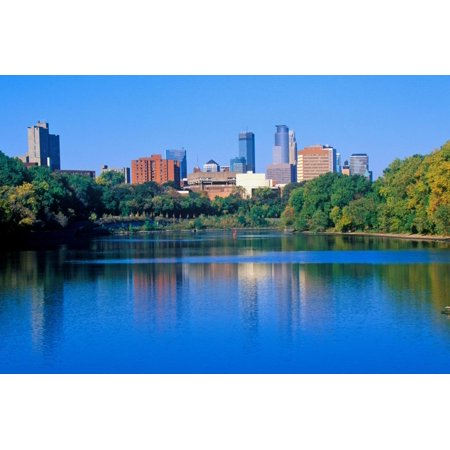 Morning view of Minneapolis skyline from Interstate 94, MN Print Wall (Mall Minneapolis Mn)