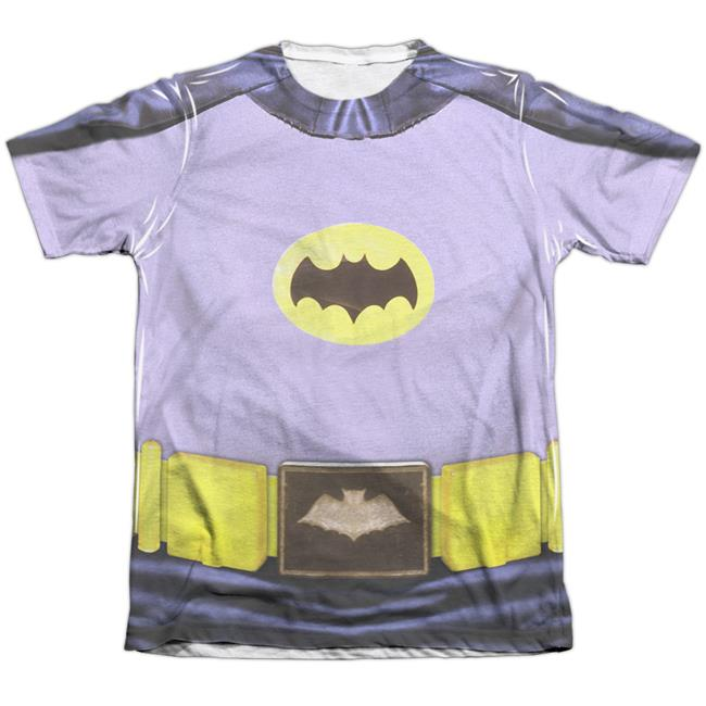 Batman Classic TV Batman Costume-Adult Poly Cotton S by S Tee, White - Small - image 1 of 1
