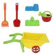 Iuhan 6pc Kids Beach Toys Set Molds Tools, Sandbox Toys On Summer Beach Holiday
