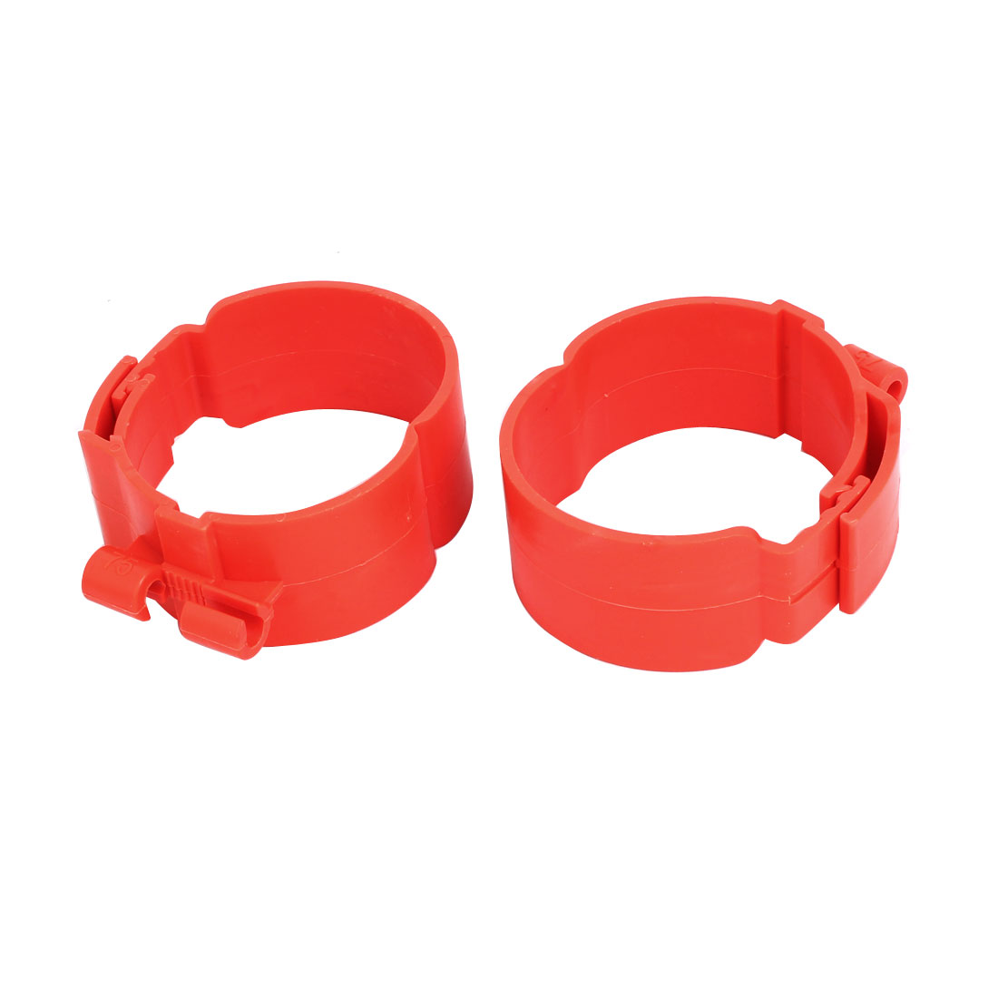 75mm Dia 38mm Width Central Air Conditioner Pipe Clip Clamp Red 2pcs