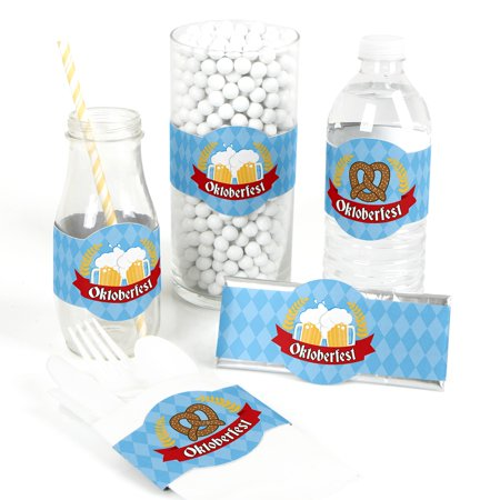 Oktoberfest - DIY Party Supplies - German Beer Festival DIY Wrapper Favors & Decorations - Set of 15
