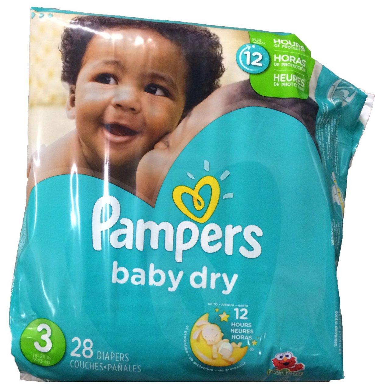 4 PACKS : Pampers Baby Dry Diapers, Size 3, 28 Count by Pampers