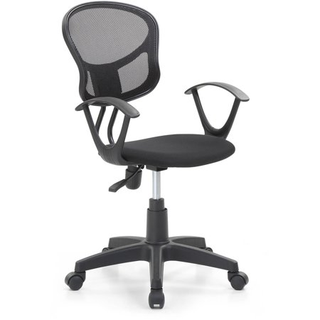 Hodedah Mesh, Mid-Back, Adjustable Height, Swiveling Office Chair with Padded Seat, Multiple Colors