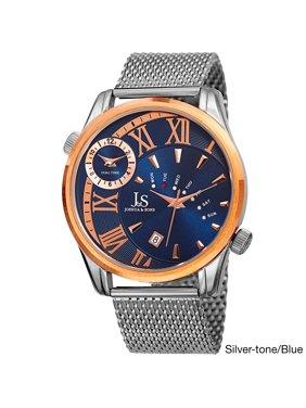 1bae21e50c05 Product Image Men s Quartz Multifunction Dual Time Stainless Steel Mesh  Bracelet Watch - GOLD