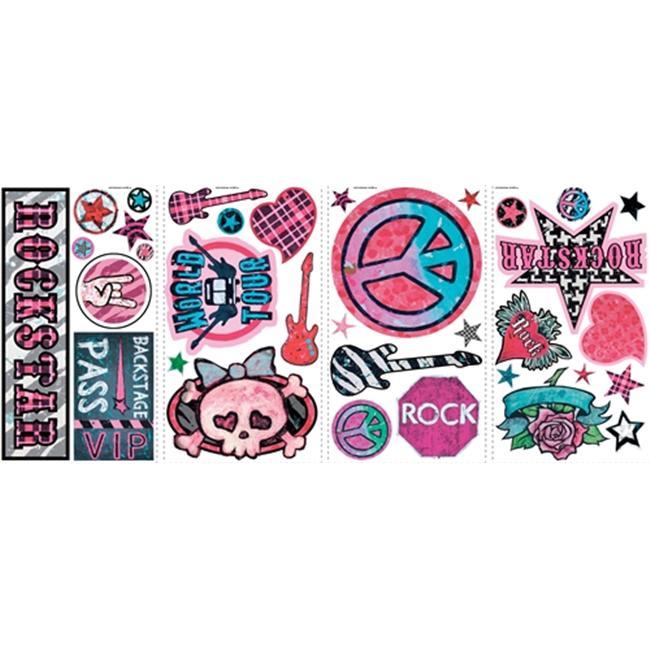 Roommate RMK1564SCS Girls Rock N Roll Wall Decals