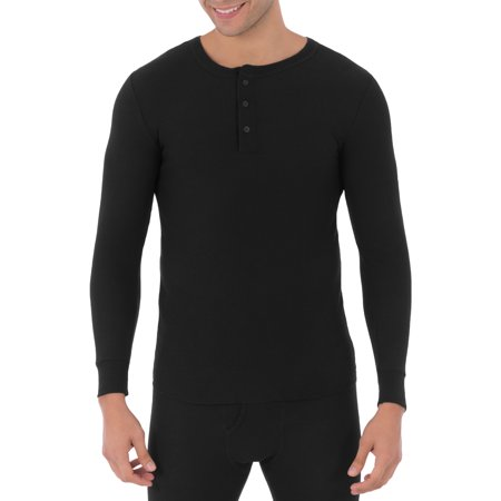 Fruit of the Loom Mens Classic Thermal Henley Top