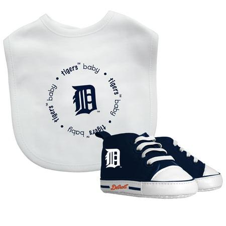 MLB Detroit Tigers Bib & Prewalker Baby Gift Set