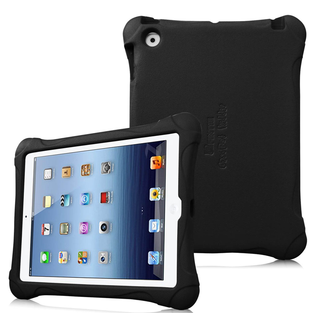 Apple iPad 2 / iPad 3 / iPad 4 Kiddie Case - Fintie Lightweight Shock Proof Kids Friendly Cover, Black