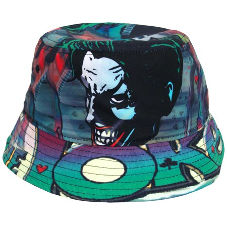 Authentic Greek Fishermans Cap (Joker Batman DC Comics Sublimation Fisherman Crusher Bucket Cap)