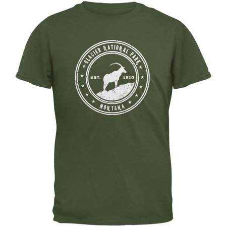 Glacier National Park Military Green Youth T-Shirt](Military Boys)