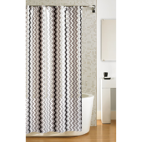 Hometrends Zig Zag PEVA Shower Curtain