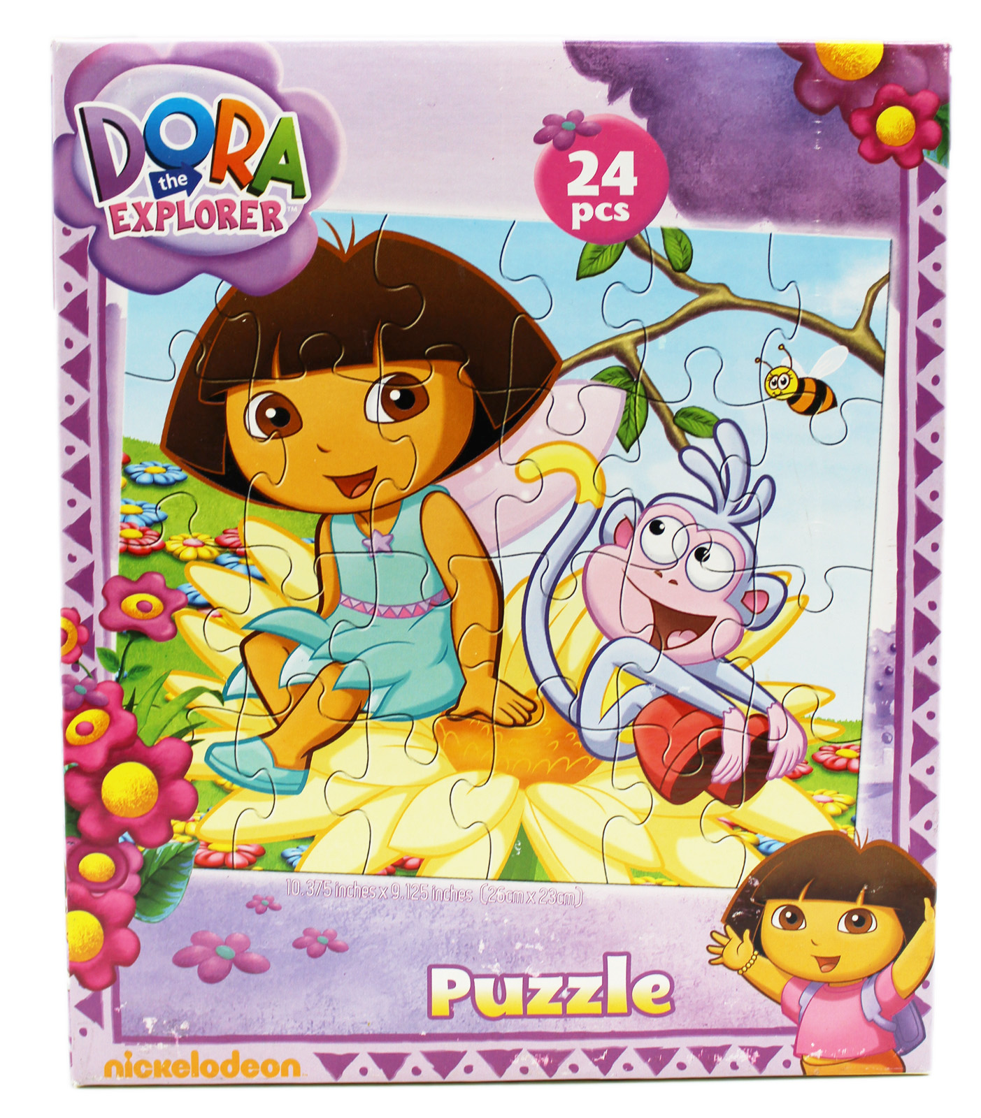 Dora the Explorer Boots and Dora on a Flower Kids Jigsaw Puzzle (24pc) by