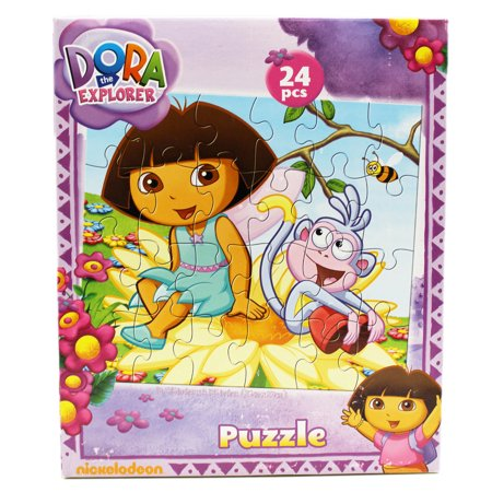 (Dora the Explorer Boots and Dora on a Flower Kids Jigsaw Puzzle (24pc))