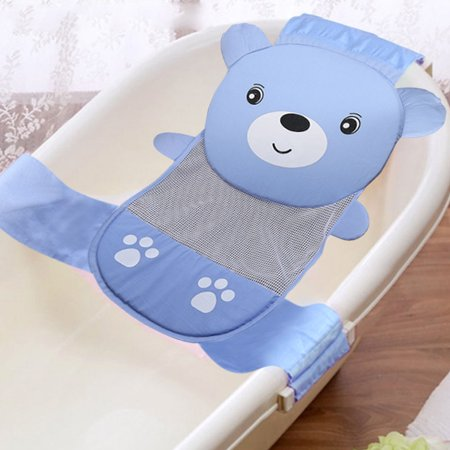 Baby Bathtub Stand - Infant Baby Bathtub Mesh Sling, Adjustable Baby Bath Sling Non-Slip Shower Mash Seat Supprot Cradle Hammock for Newborn 0-2 Year(Blue)