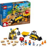 LEGO City Construction Bulldozer 60252 Building Kit (126 Pieces)